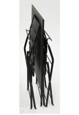 Jardin Gun Metal Set Folded