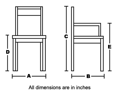 chair dimansions