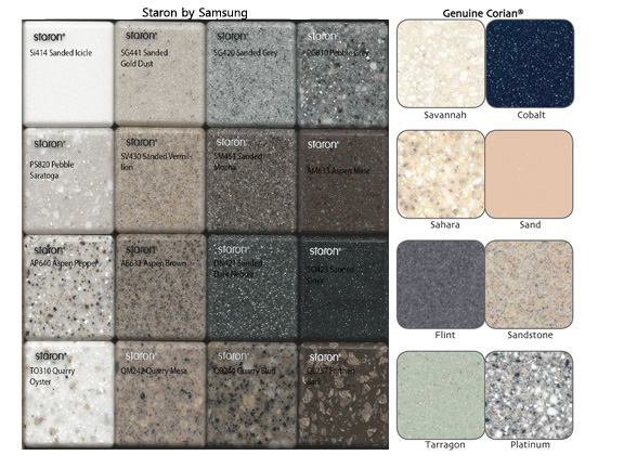 Corian® and Staron® Colors