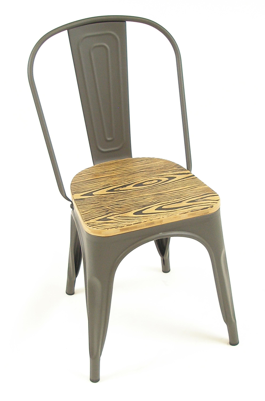 Manhattan SC Gun Metal w/ Wood Seat