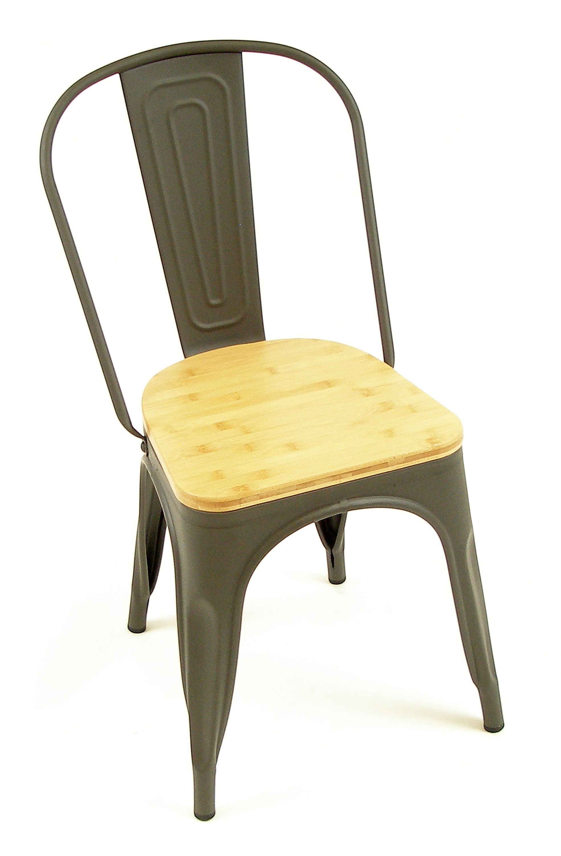 Manhattan SC Gun Metal w/ Natural Wood Seat