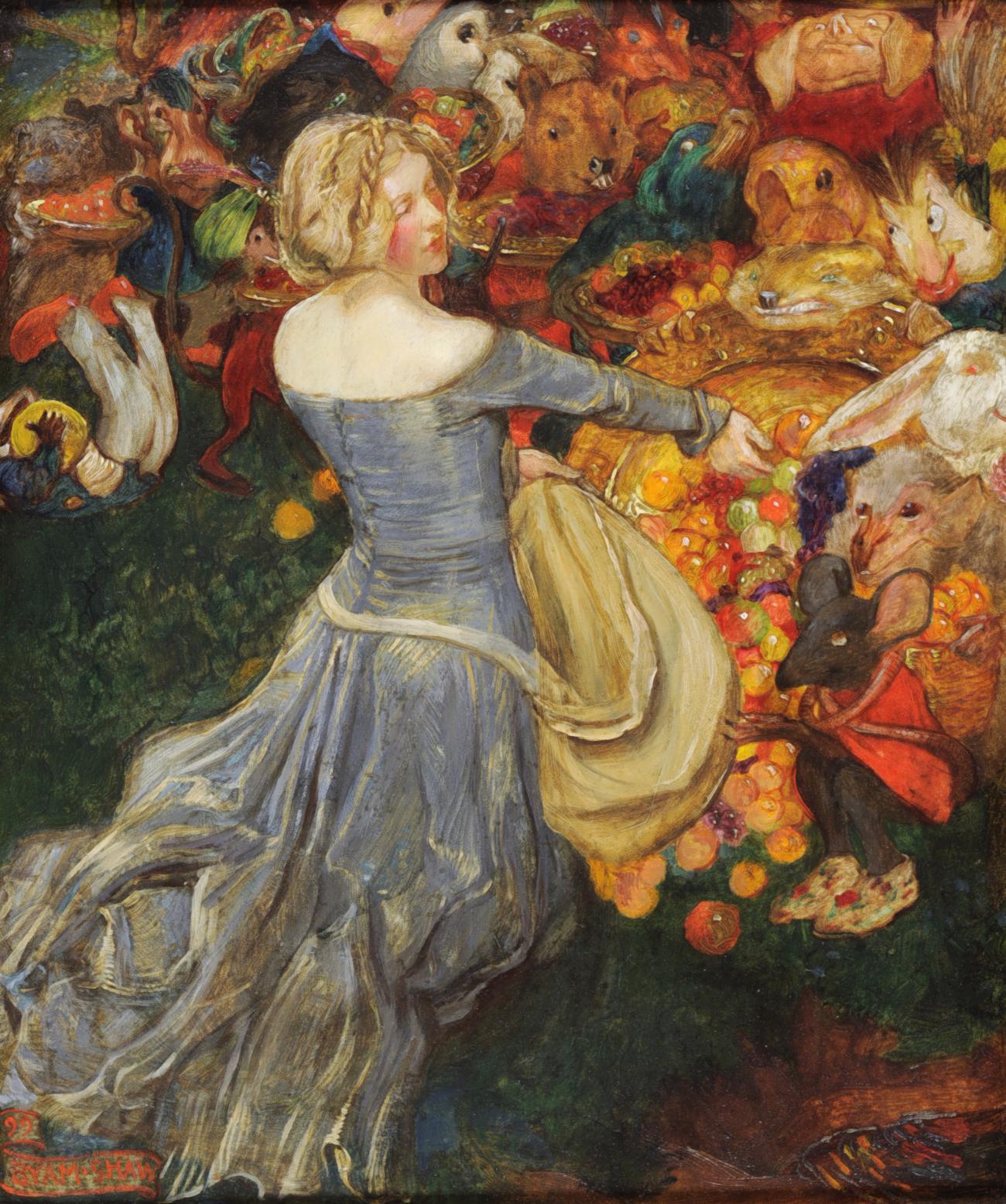 Painting by John Liston Byam Shaw (1872 - 1919).
