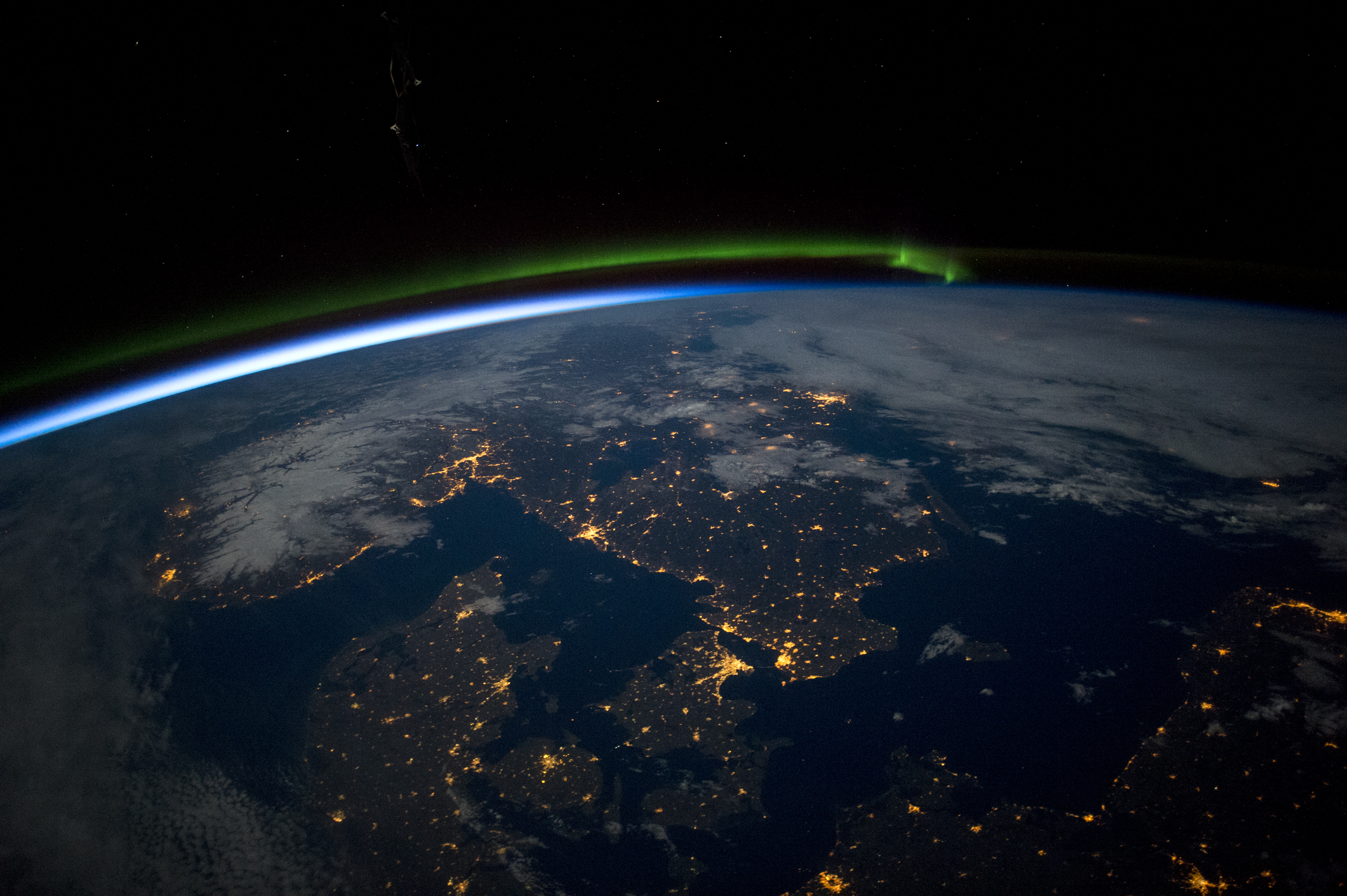 Scandinavian night, image courtesy of NASA
