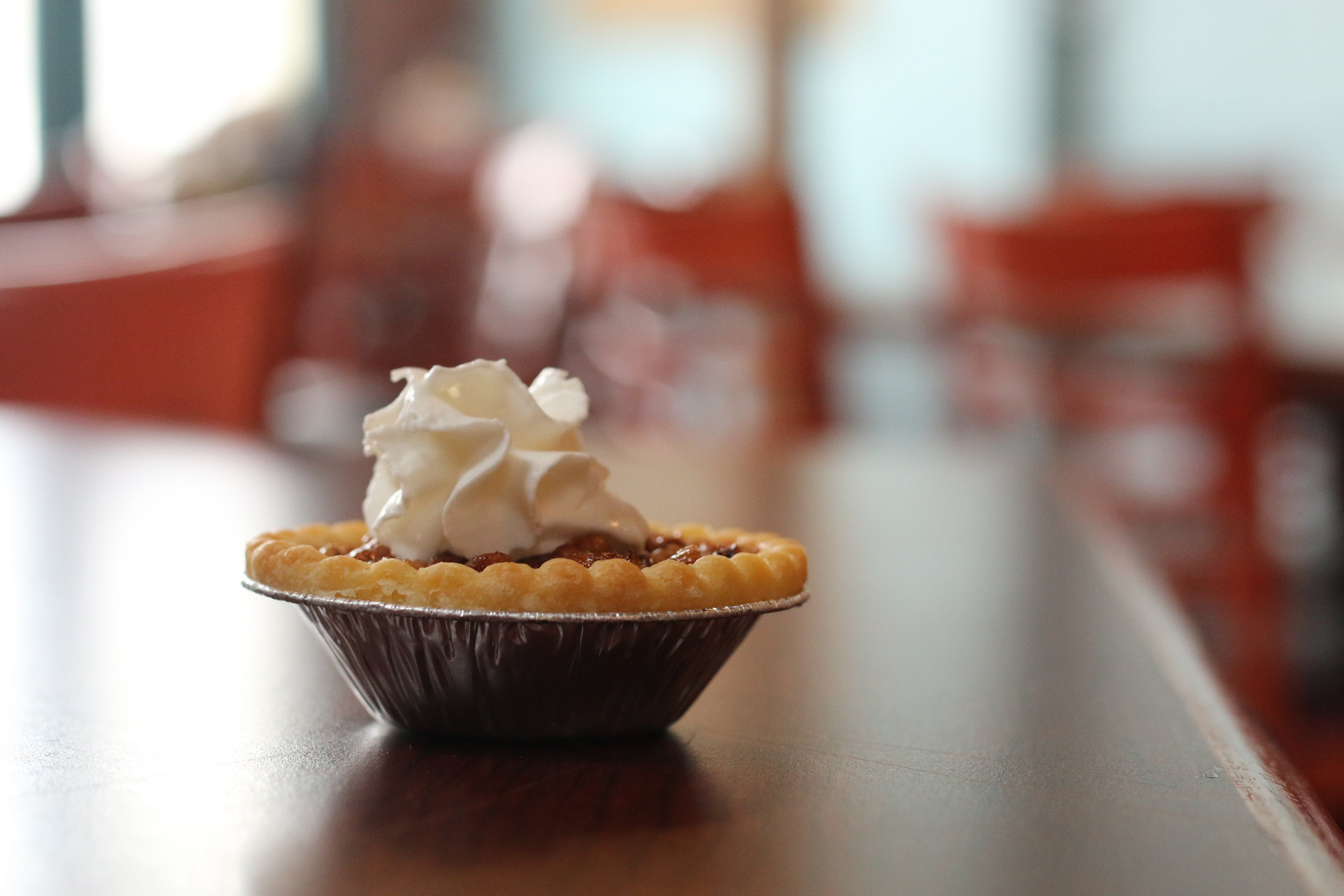 Bite-size pies are at your fingertips.