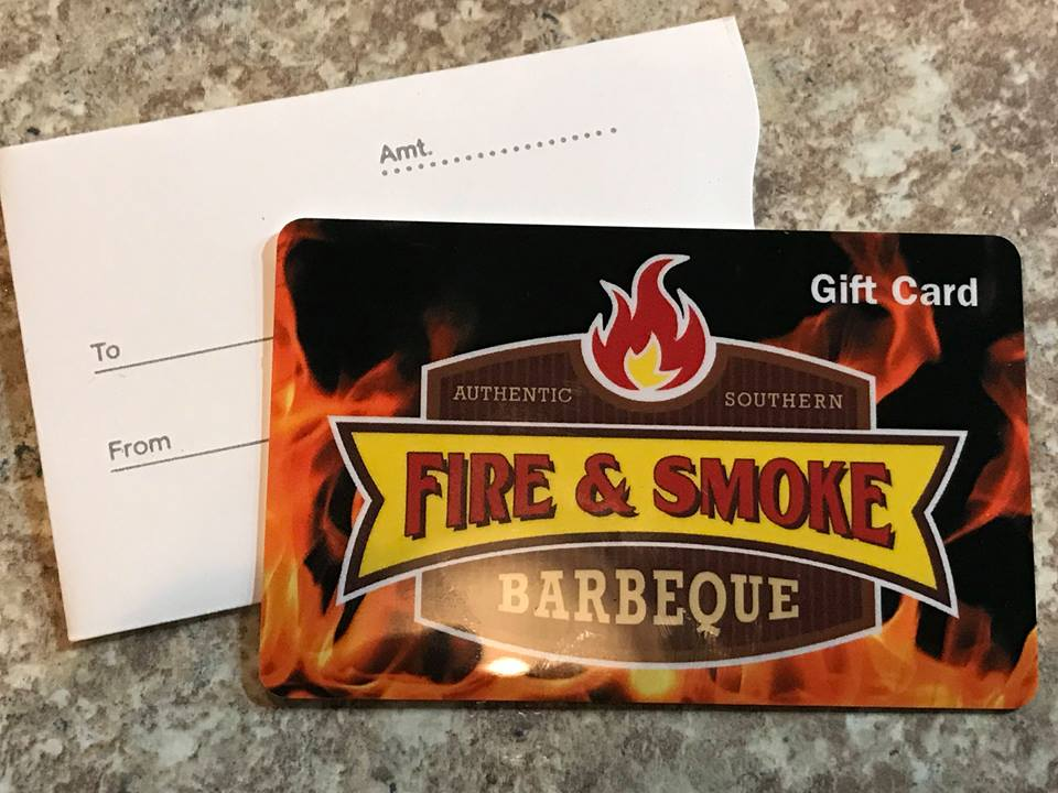 Fire & Smoke Barbeque Gift Cards.
