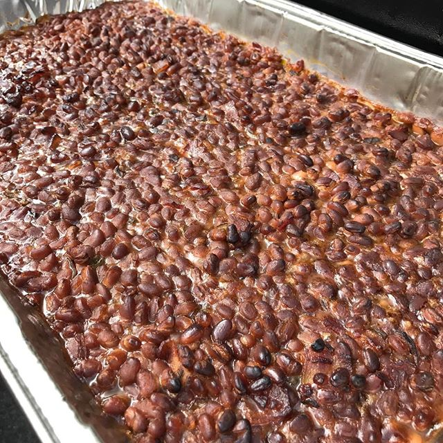 Baked beans. A customer says they taste like each bean is individually smoked.  We are trying! We open at 11:00 am. #bbq #myellensburg #baresandbroncs #pnw #eburg #smokeybakedbeans