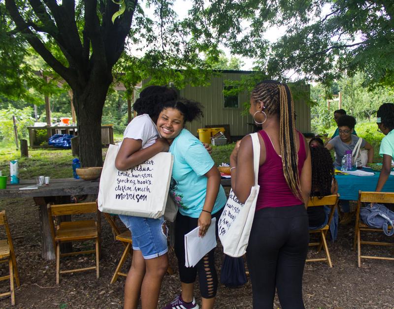 Saying Goodbye - OMK 2018 Summer Workshop for Black Girls - photo by Gabrielle Clark
