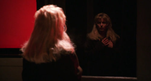 "Laura Palmer (Sheryl Lee) struggling to hold onto herself in ""Fire Walk With Me."""