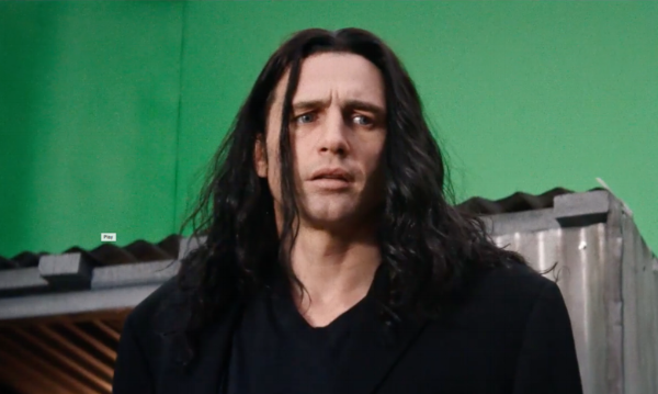 """""""I see you in there."""" James Franco as Tommy Wiseau."""