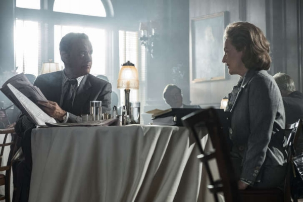 "Ben Bradlee (Tom Hanks) and Kay Graham (Meryl Streep) in ""The Post."""