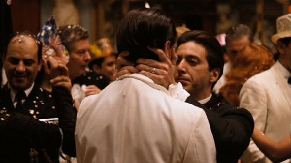 Fredo (John Cazale) and Michael (Al Pacino).