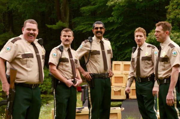 Super Troopers: Kevin Heffernan, Steve Lemme, Jay Chandrasekhar, Paul Soter, Eric Stolhanske.