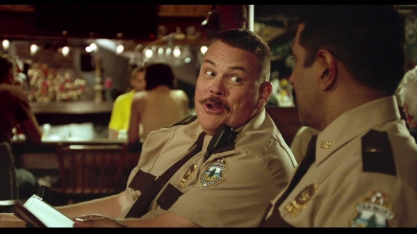 """""""Super Troopers 2"""": Farva (Kevin Heffernan) gets his liter of cola in Canada."""
