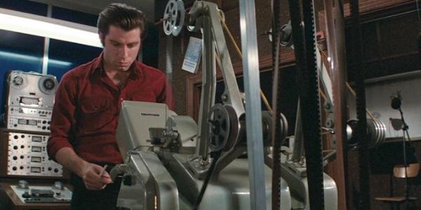 Movie sound-man Jack Terry (John Travolta) in  Blow Out  (1981)