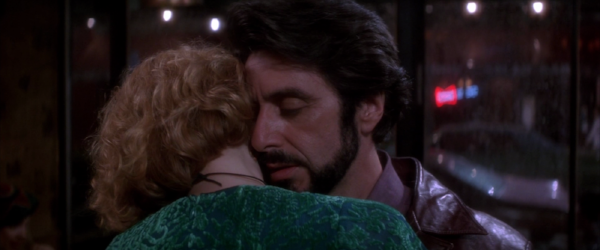 """""""You Are So Beautiful"""": Carlito embraces Gail (Penelope Ann Miller)"""