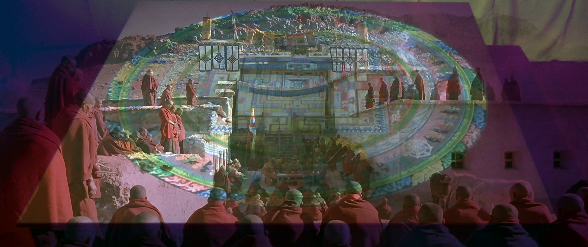 The sand-painting in  Kundun  (1997), ritual and representation folding over each other