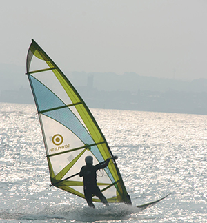 Windsurfing down in Cornwall