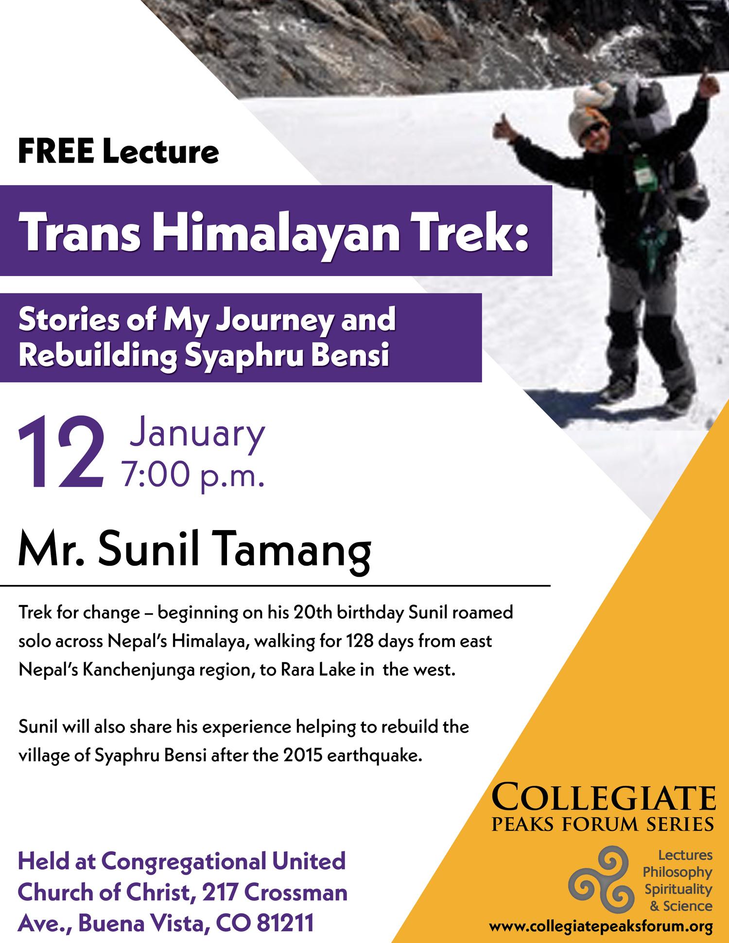 January 12, 2017 Mr. Sunil Tamang