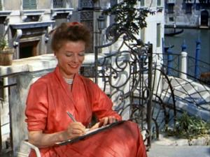 Katherine Hepburn in  Tempo d'estate ( Summertime ) writes from Venice!