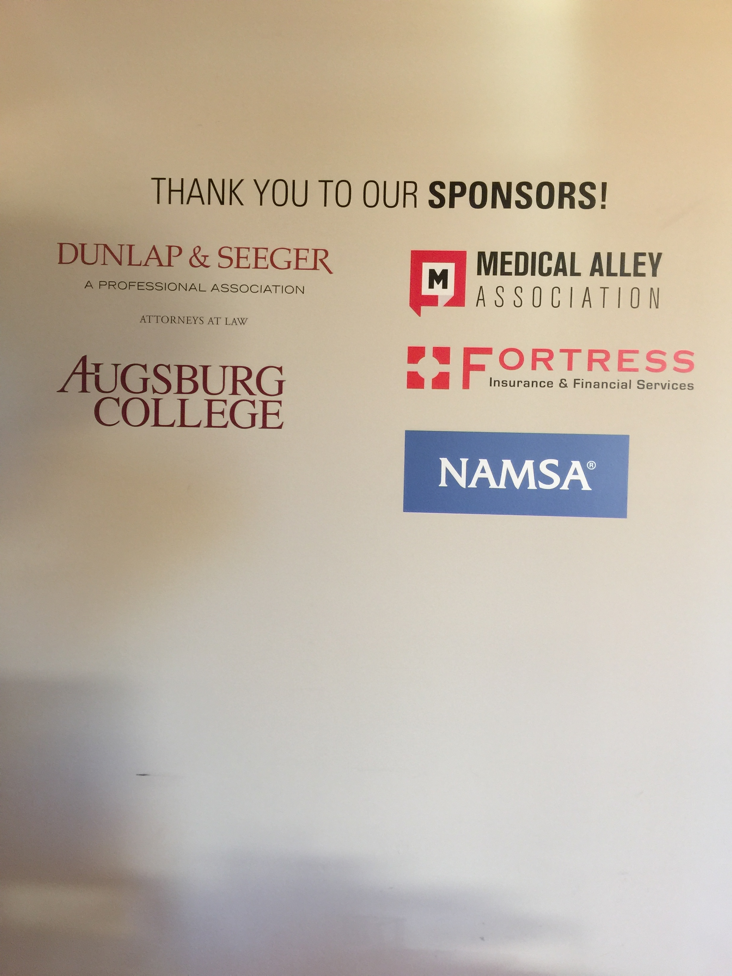 Our sponsor wall at Collider...thanks  Narrative
