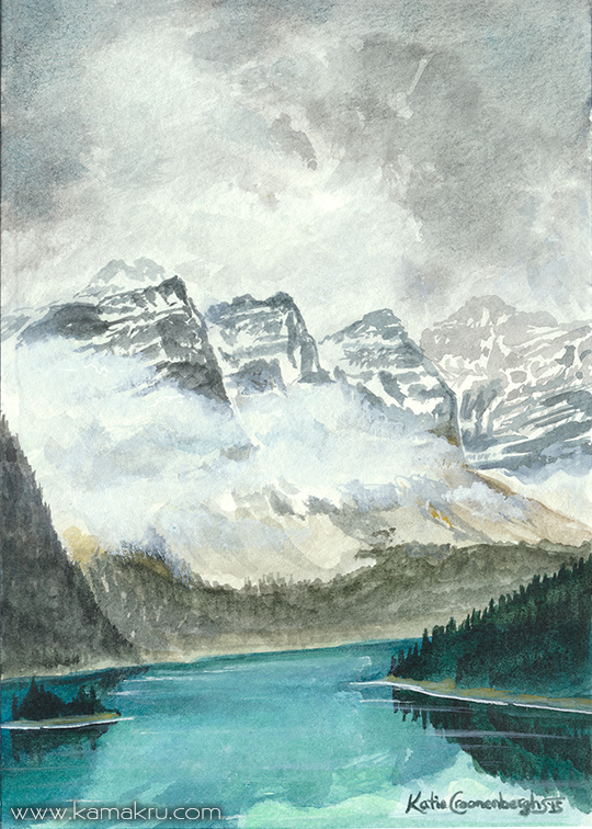 Mini Watercolor - Glacial Lake 2