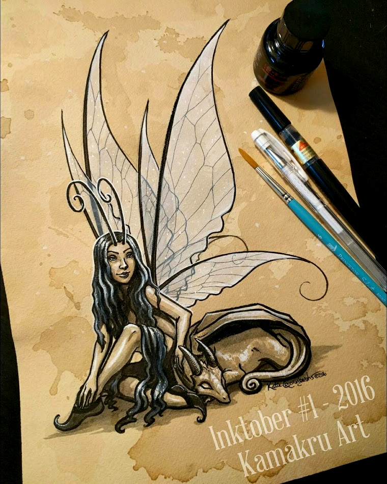 Ink & Coffee #1 - The Fairy & The Dragon