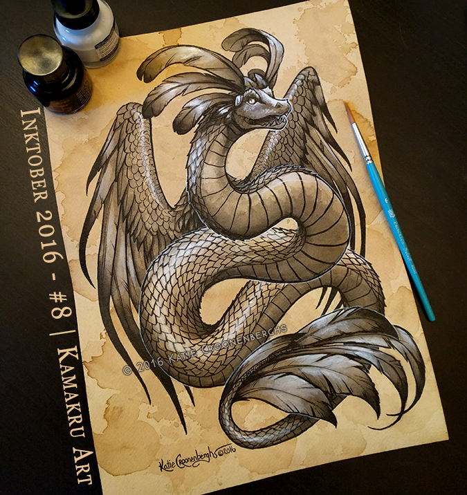 Ink & Coffee #8 - Quetzalcoatl