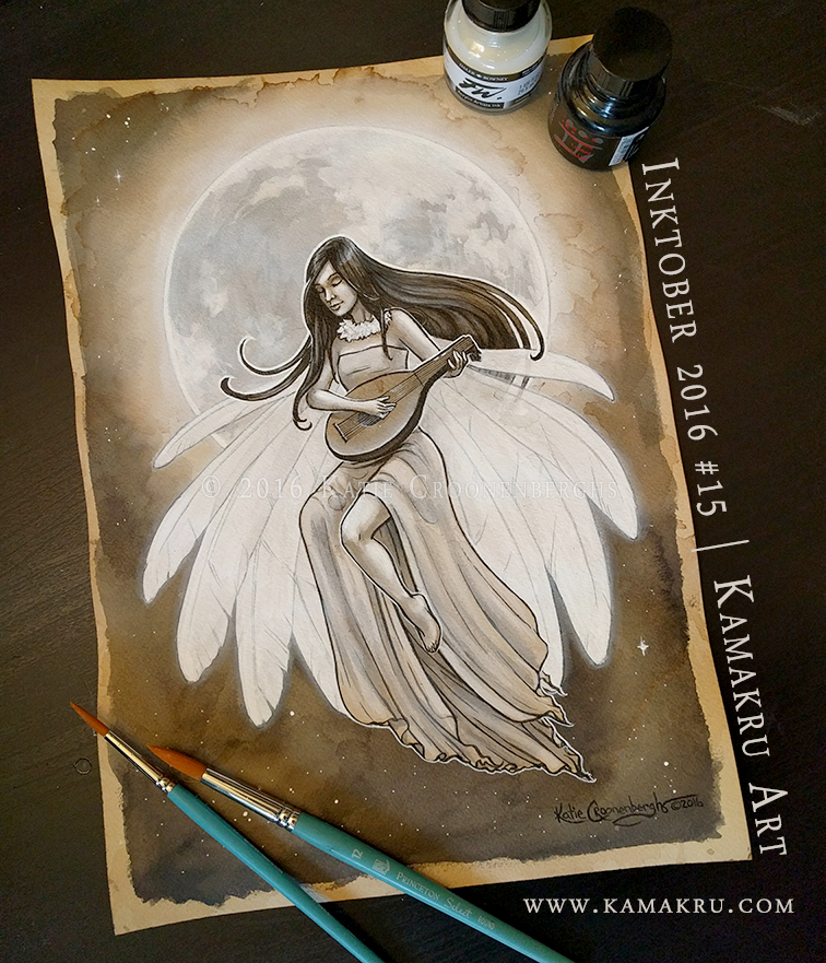 Ink & Coffee #15 - Moon Bird