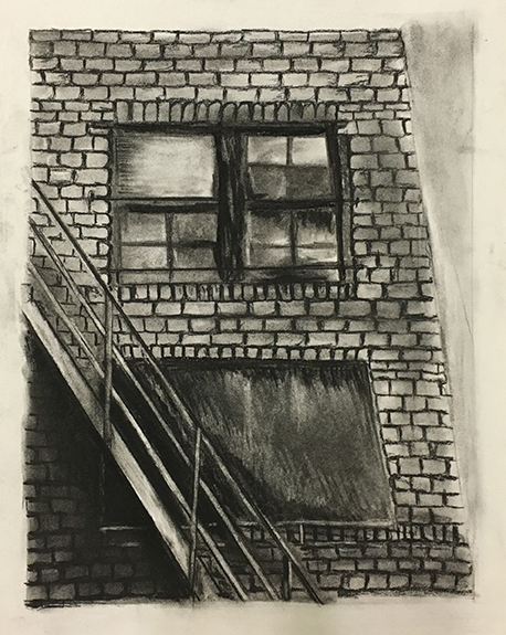 Window   Charcoal on paper