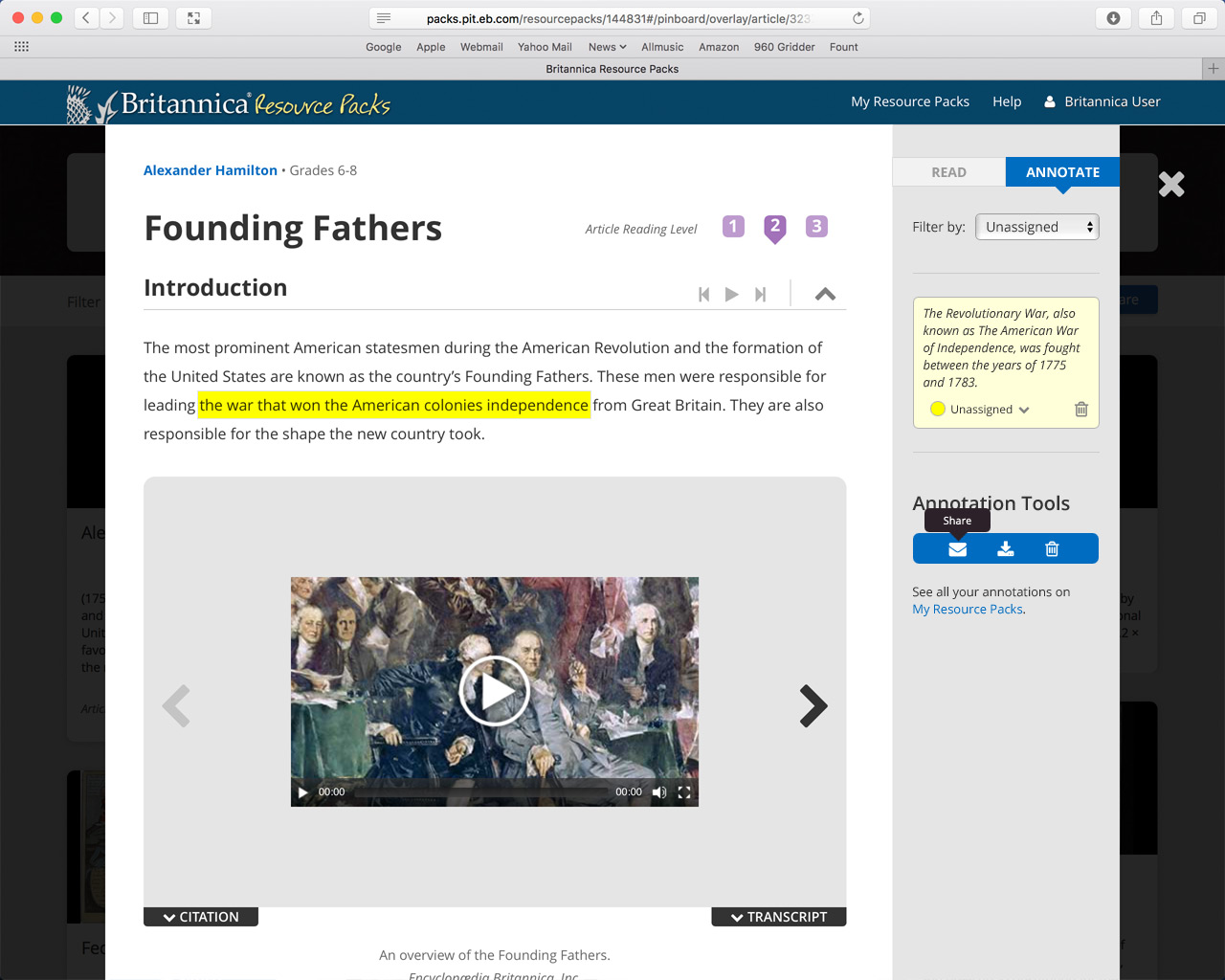The initial idea for articles annotations was to find some space on the already-crowded article modal.