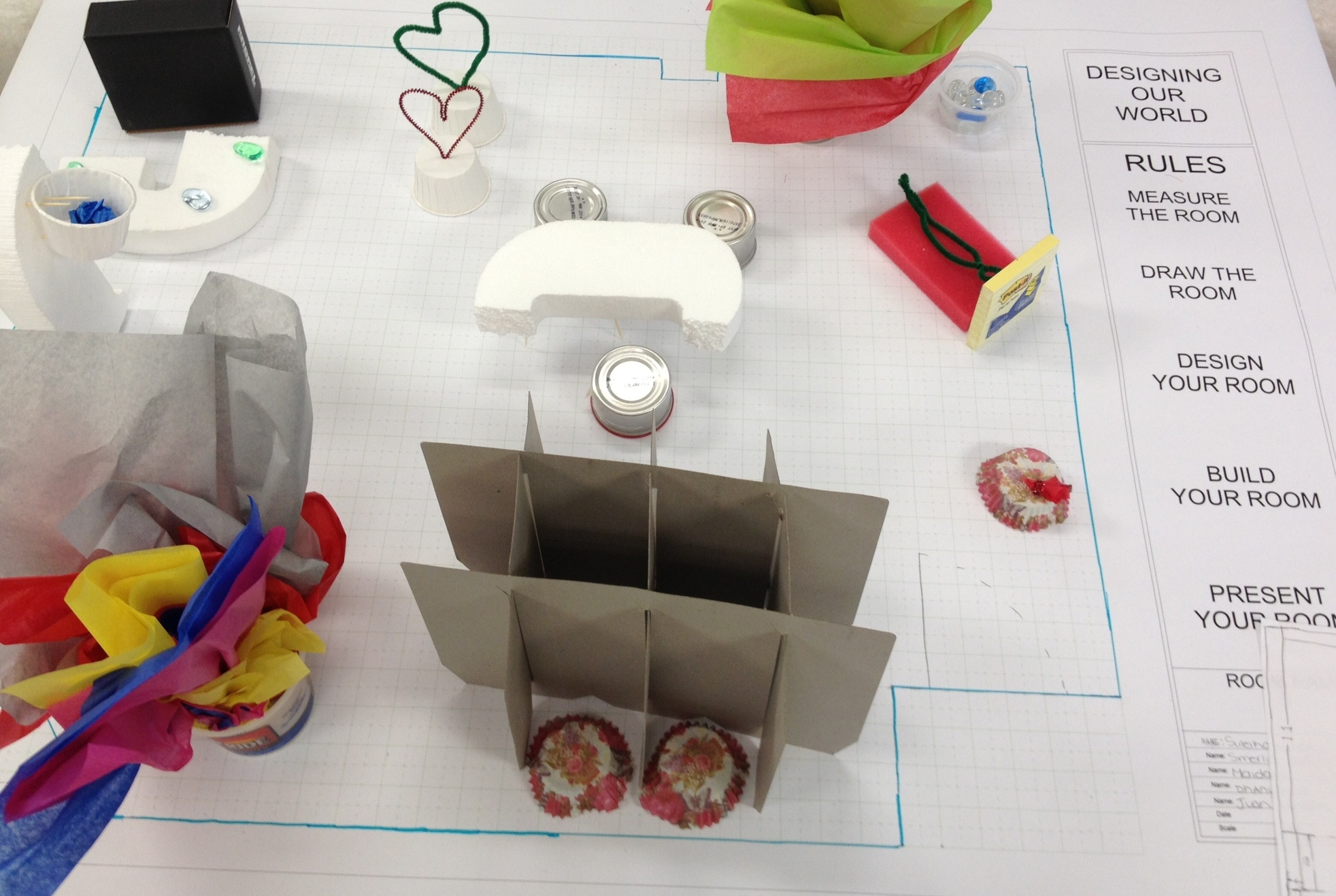 Grade 7 Lesson Plan: Design YOUR Classroom    Architecture, Model-Making