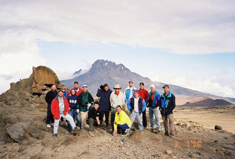 The original Jinja team, mentors, and friends before their ascent of Mt. Kilimanjaro in Tanzania