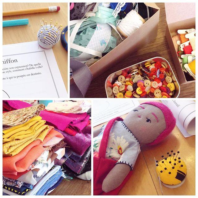 @dodansereau a mis latable pour l'atelier de poupée de chiffon et c'est comme une explosion de cute 😊 . . #sotextile #workshop #poupeedechiffon #handsewing #tropcute