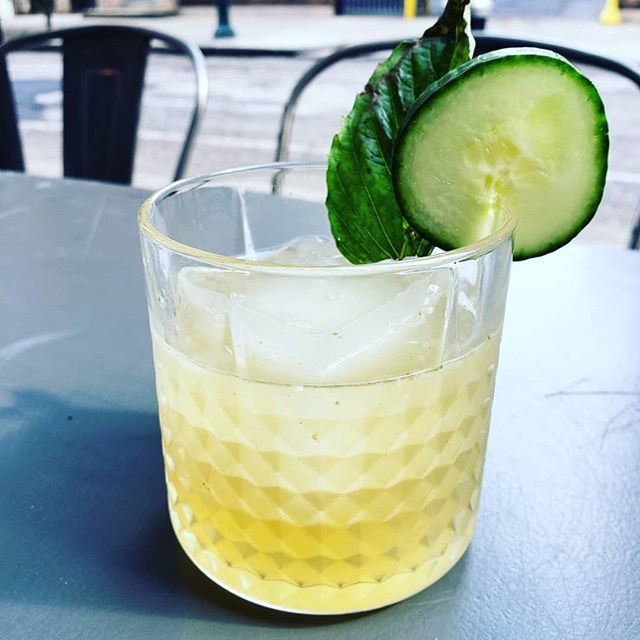 Not Your Basil Margarita with Tequila, fresh cucumber and basil, jalepeno, lime and agave! On our Happy Hour menu today for $5 ! #lime #jalepeno #basil #cucumber #phillydrinkspecials #phillydrinkup #phillyhappyhour #phillyrestaurants #centercityphilly #centercityrestaurants #phillybarscene #phillybars #phillygayborhood #phillygram #myfab5 #visitphilly #phillydrinks #phillycocktails #phillycocktailscene #midtownvillagephilly #washingtonsquarewest #