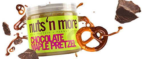 Chocolate Maple Pretzel nuts 'n more high protein peanut butter spread is DELICIOUS