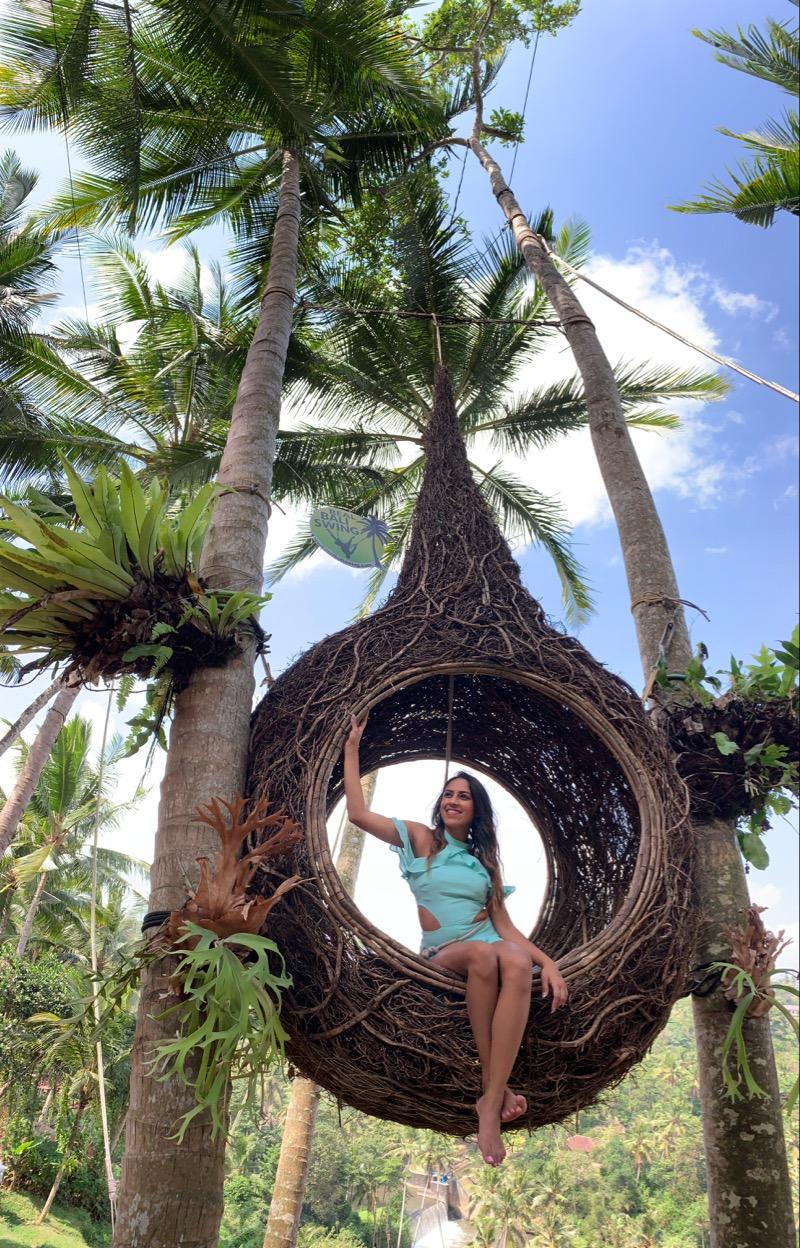 just hangin' around in a bird nest