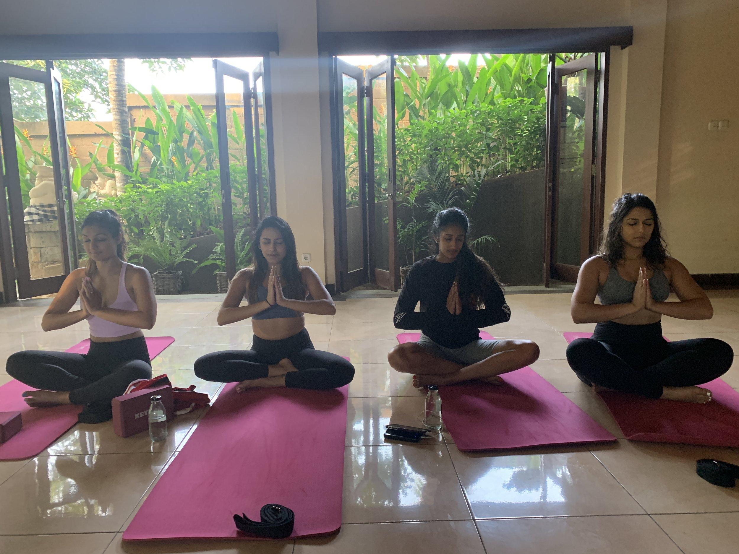 Sunrise yoga at 7 AM courtesy of our resort!