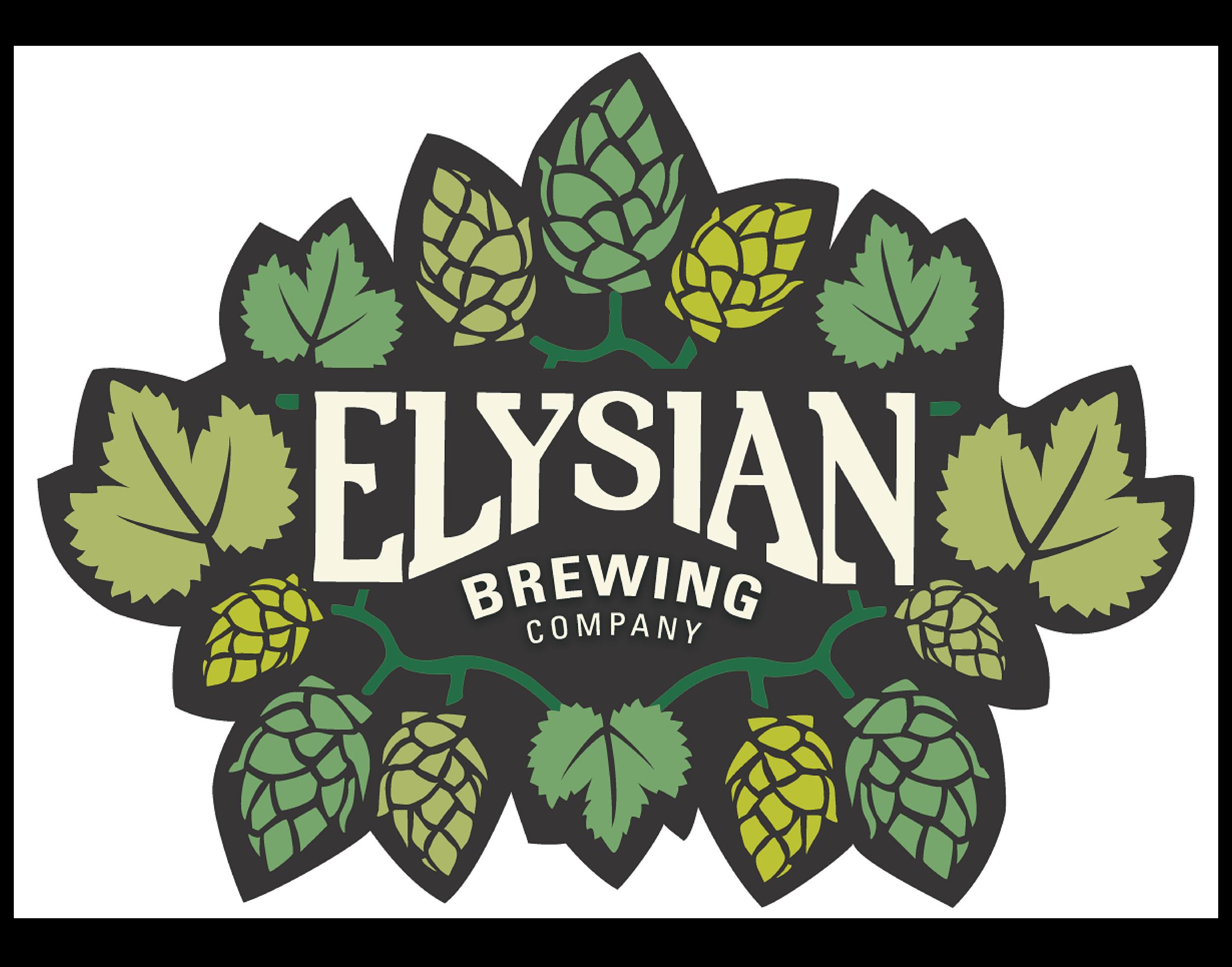 Elysian Brewing Company logo. Links to Elysian Brewing Company website.
