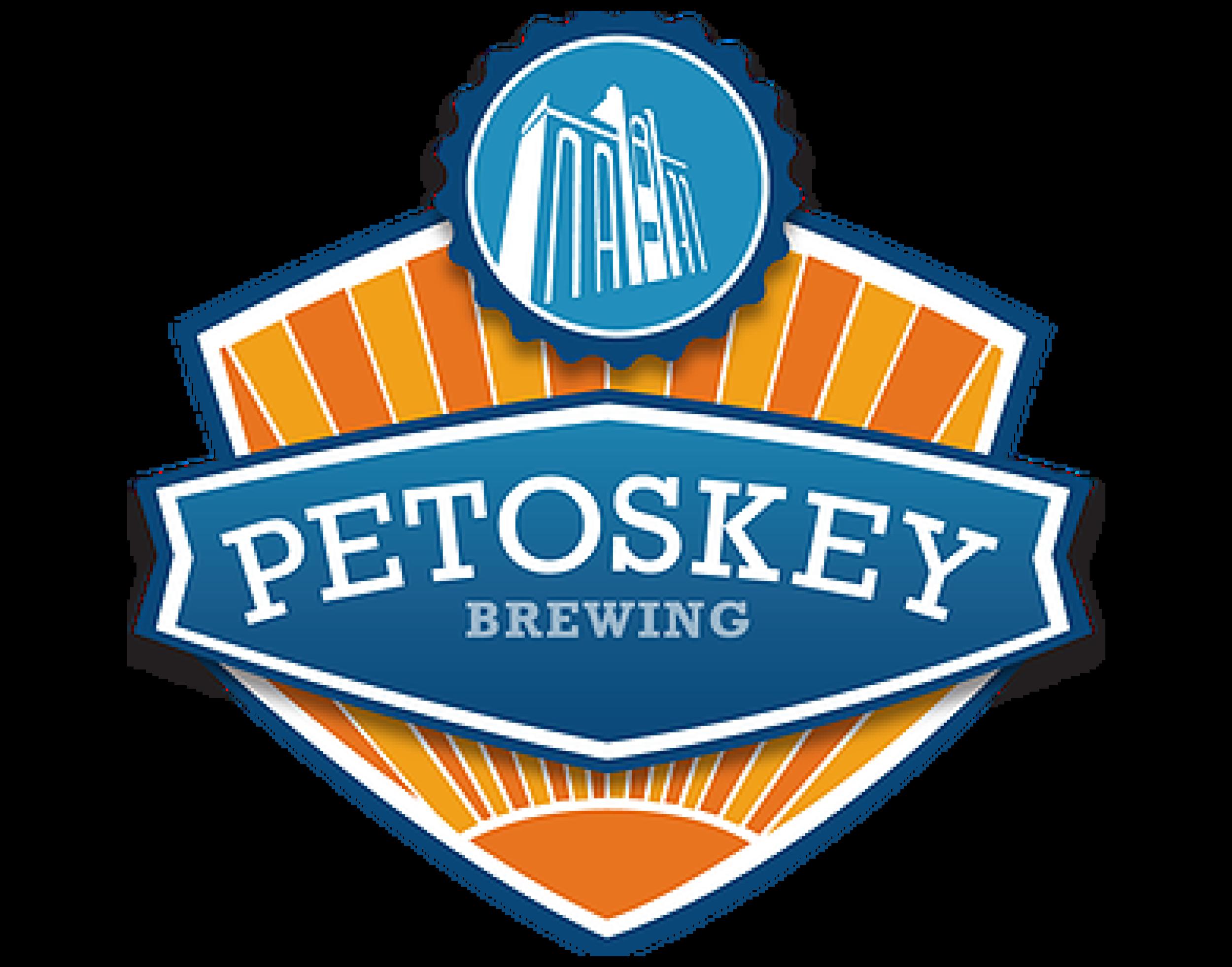 Petoskey Brewing logo. Links to Petoskey Brewing website.