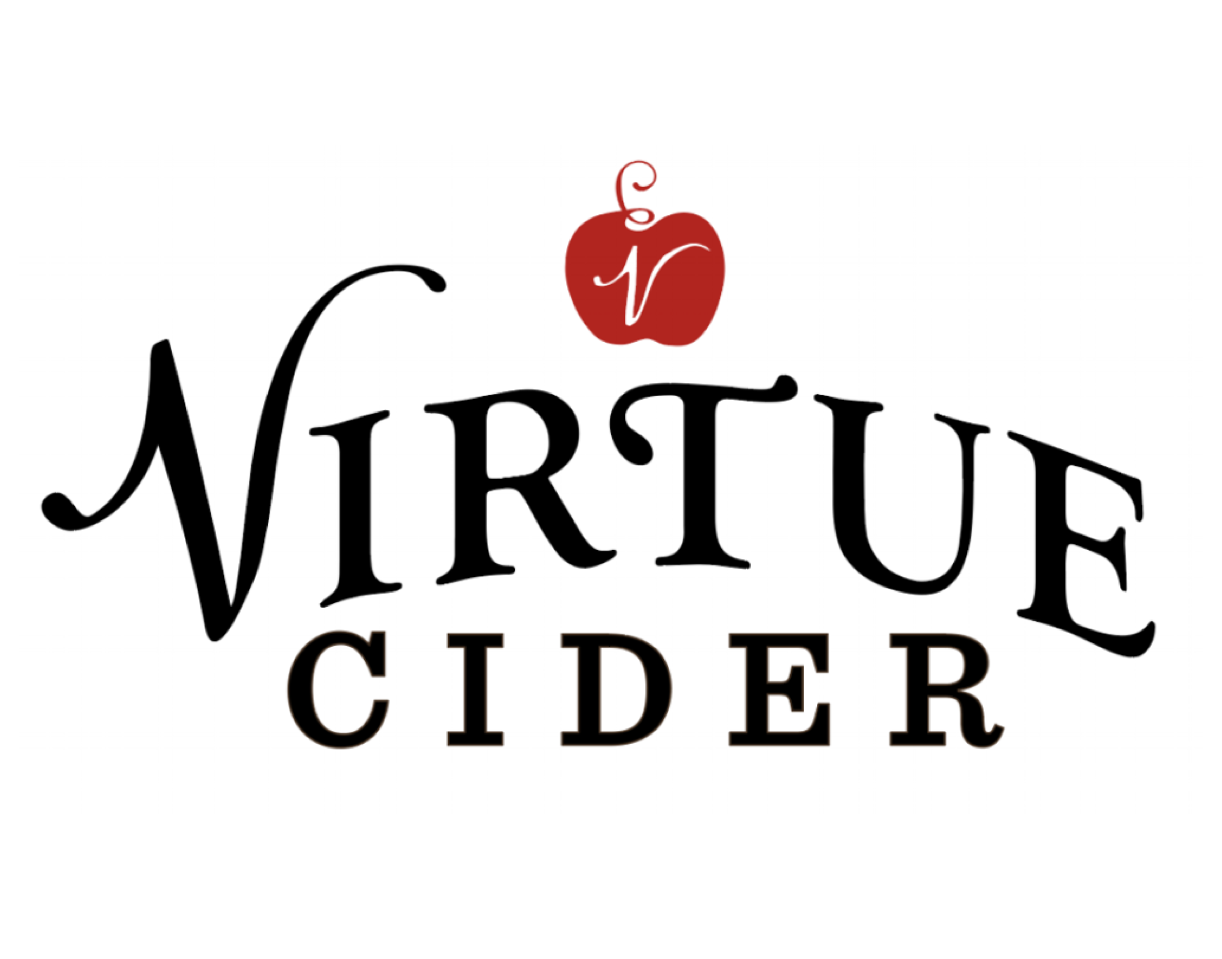 Virtue Cider logo. Links to Virtue Cider website.