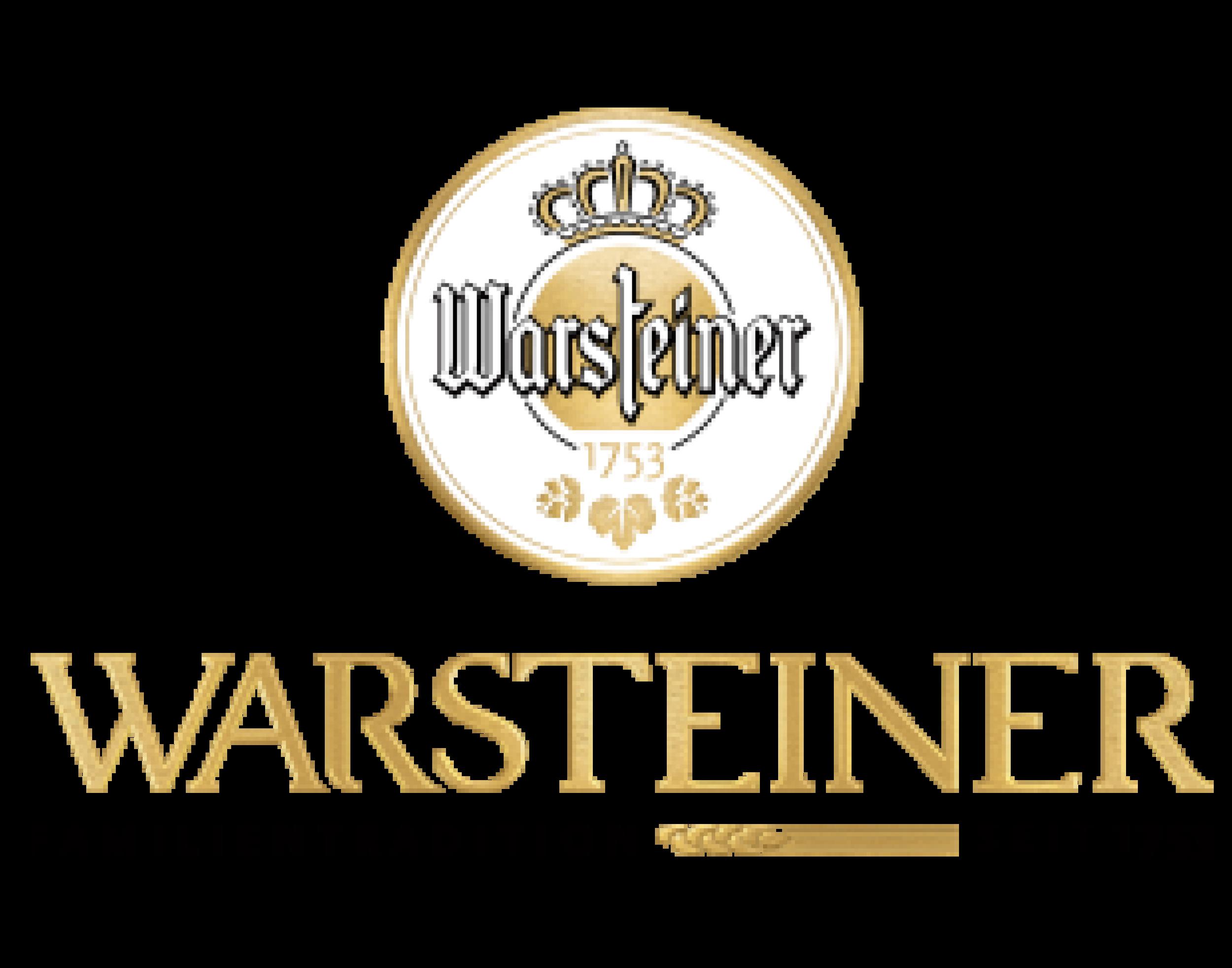 Warsteiner logo. Links to Warsteiner website.