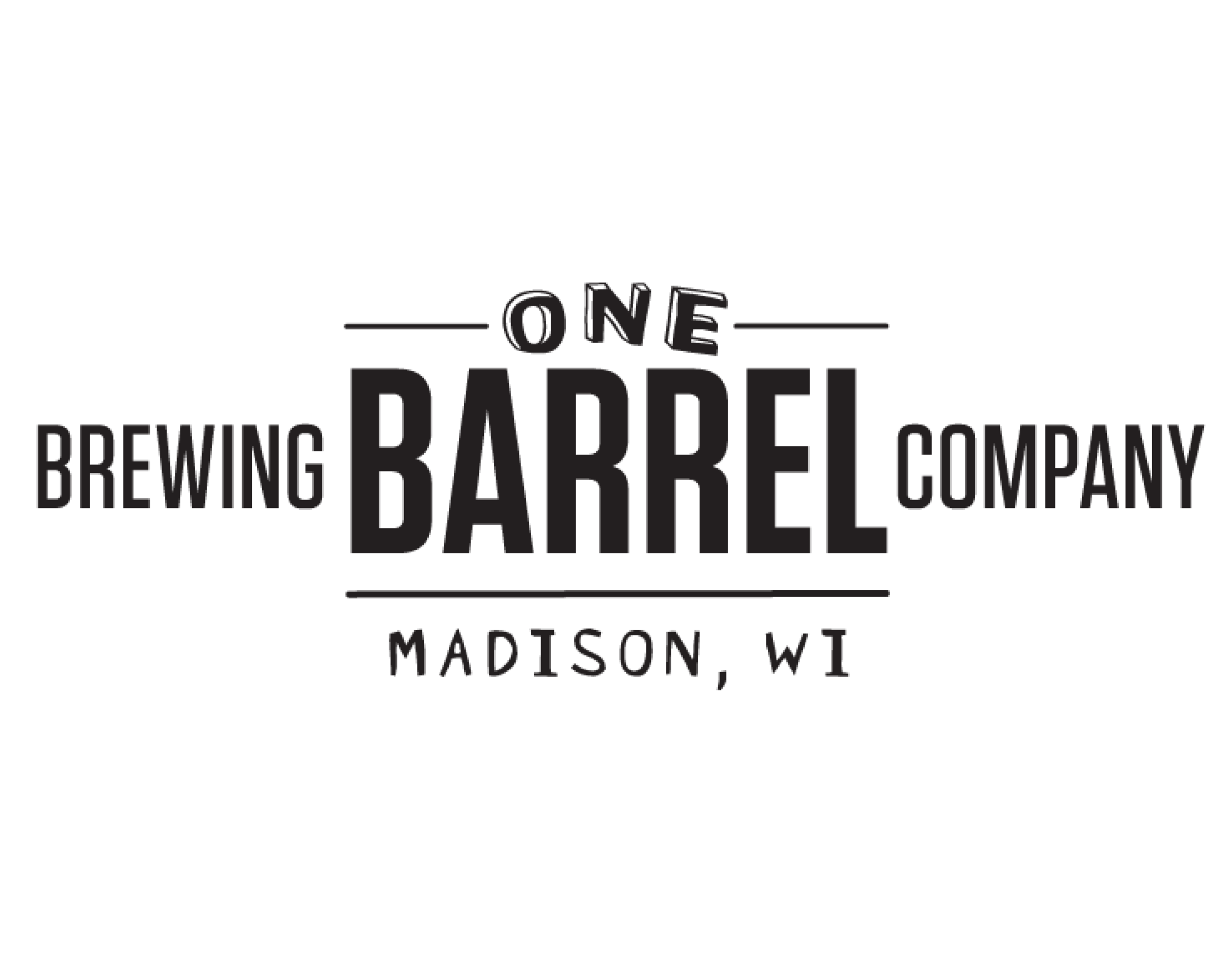 One Barrel Brewing Company logo. Links to One Barrel Brewing Company website.