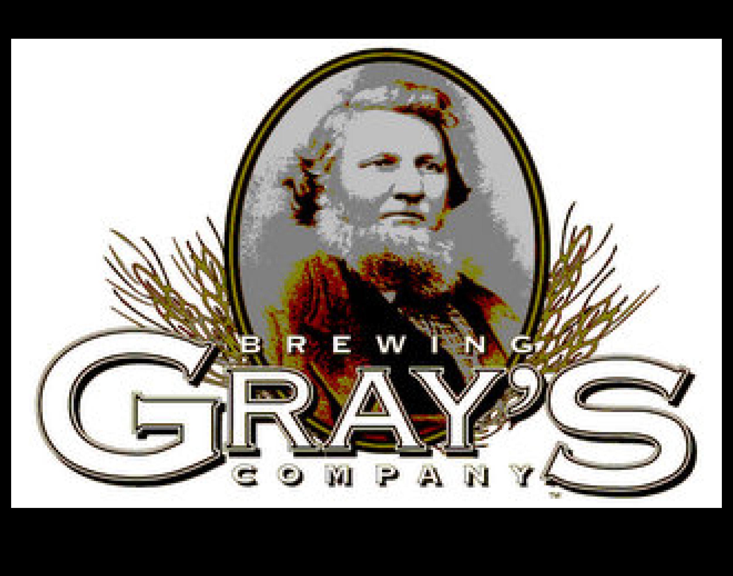 Gray's Brewing Company logo. Links to Gray's Brewing Company website.