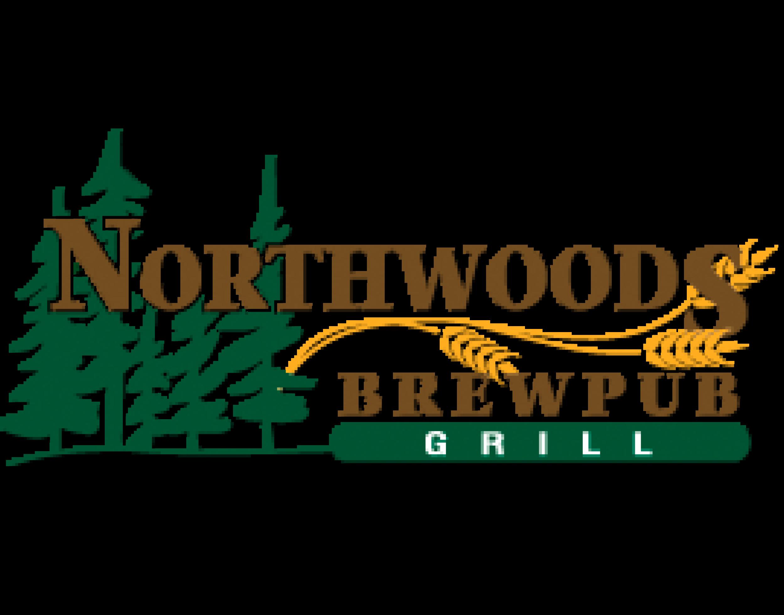 Northwoods Brewpub logo. Links to Northwoods Brewpub website.