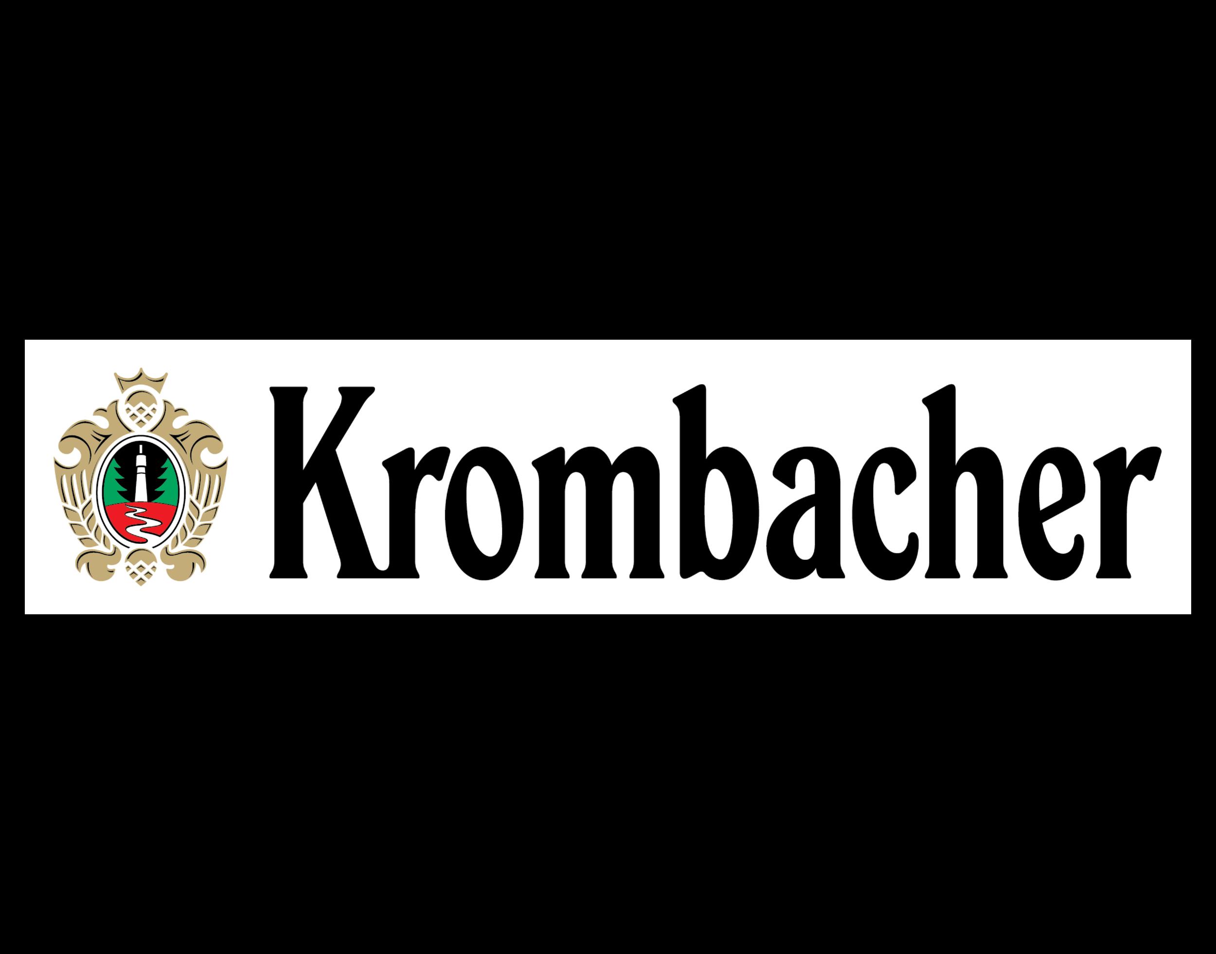 Krombacher logo. Links to Krombacher logo.