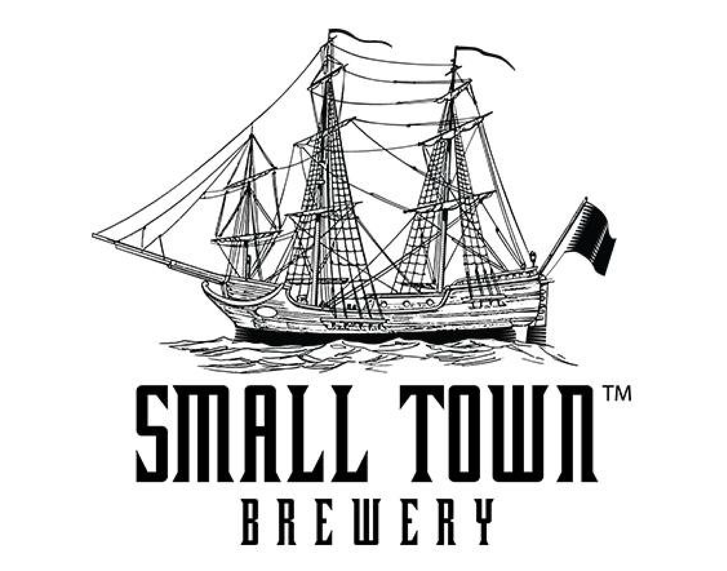Small Town Brewery logo. Links to Small Town Brewery website.