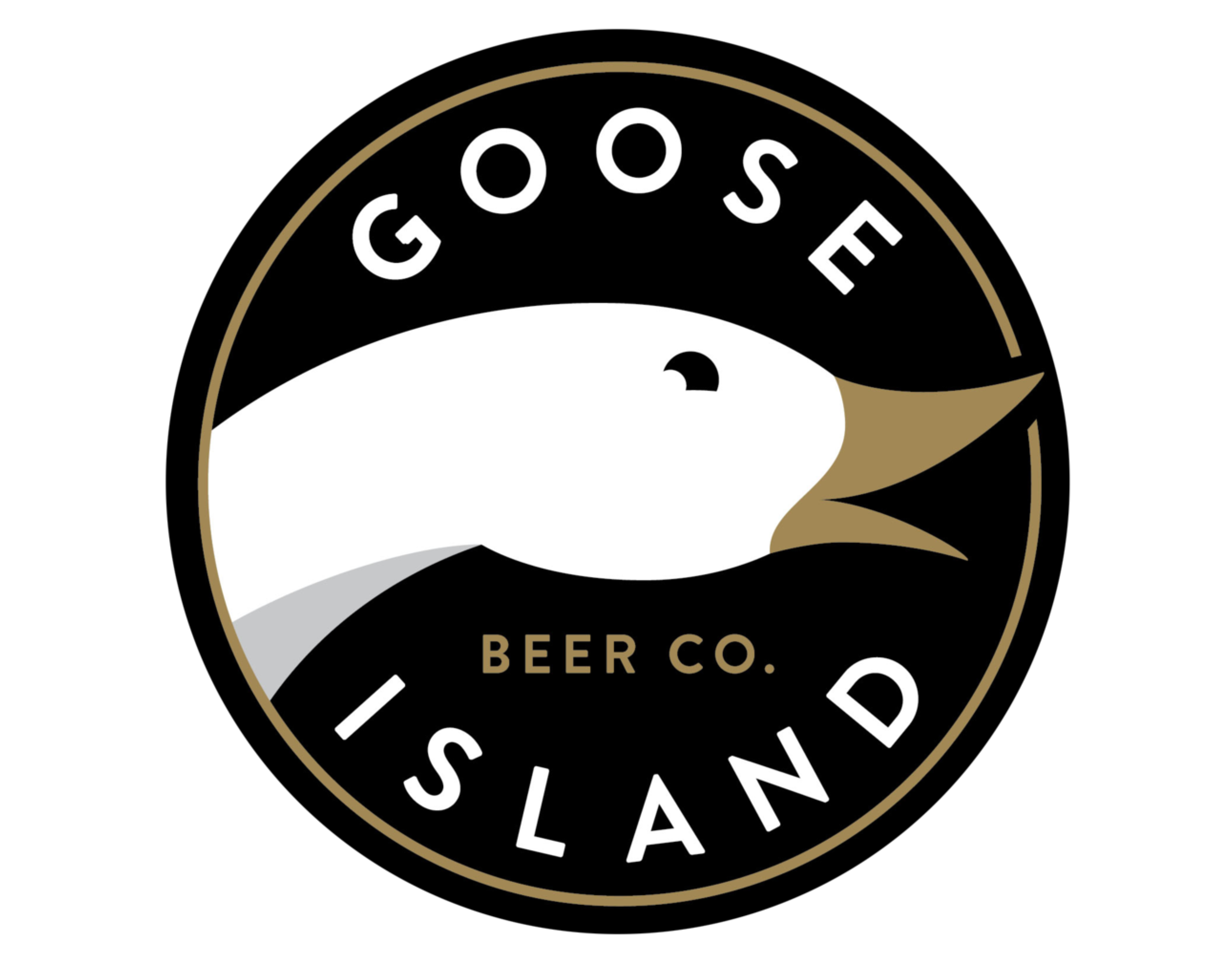Goose Island logo. Links to Goose Island website.