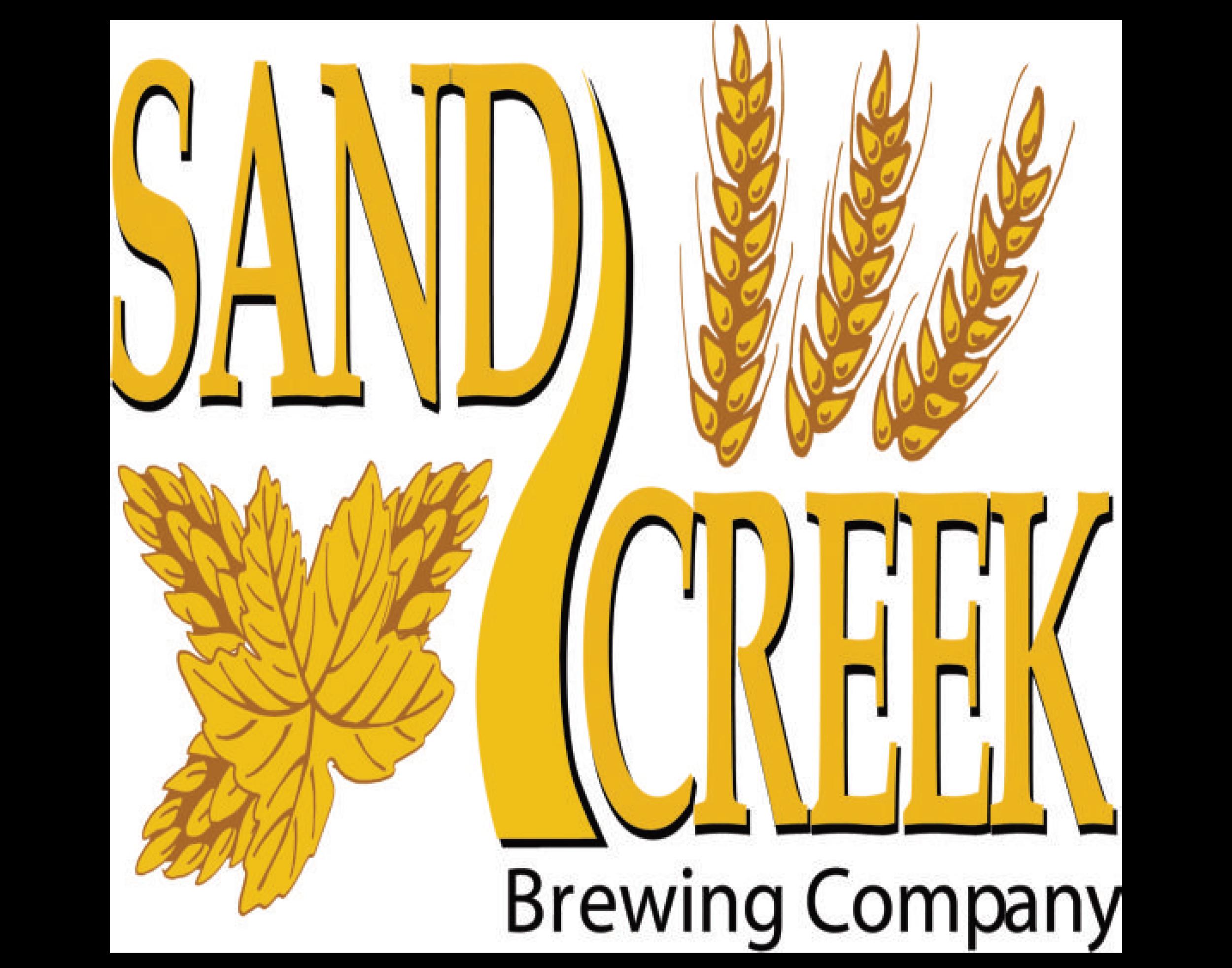Sand Creek Brewing Company logo. Links to Sand Creek Brewing Company website.