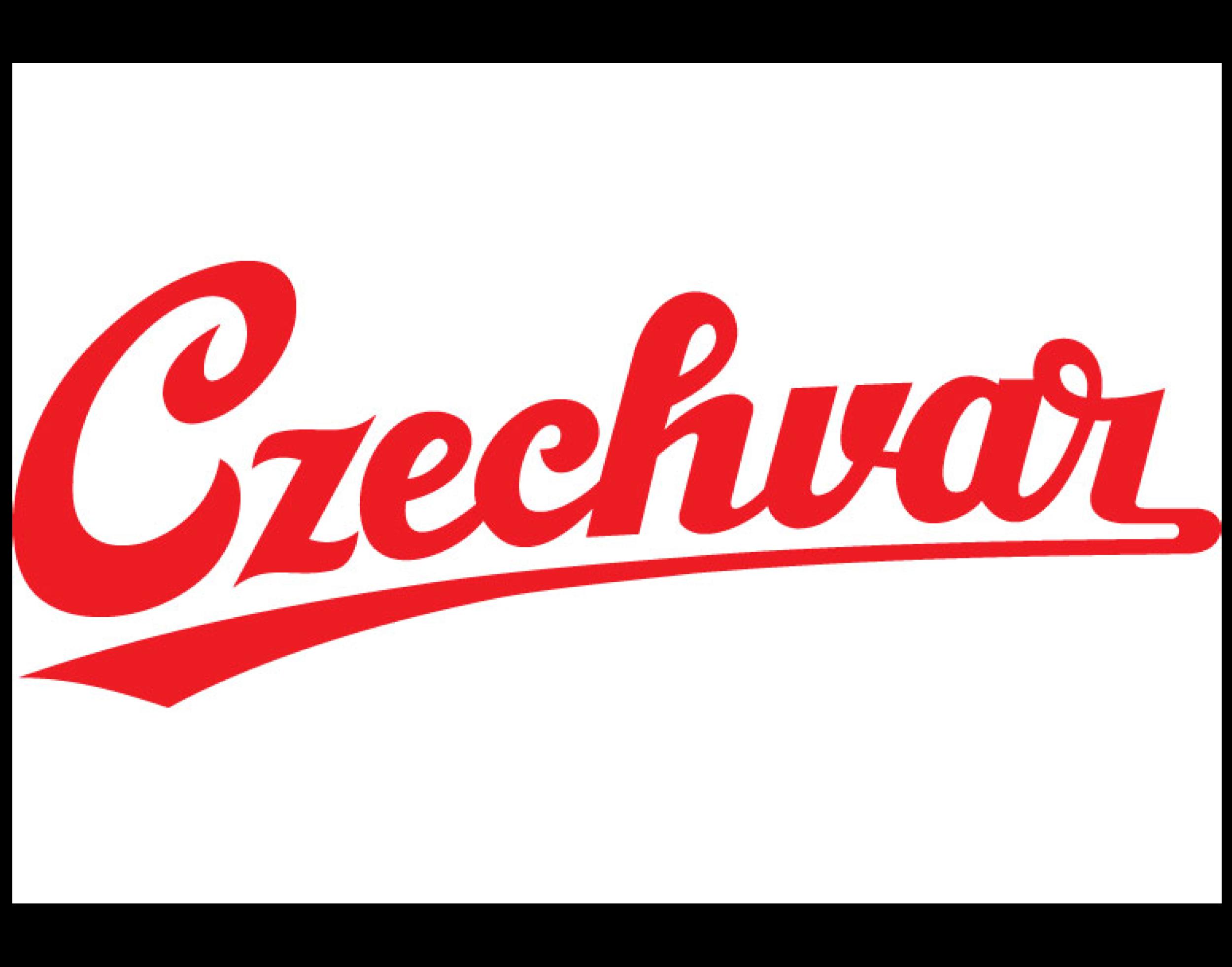 Czechvar logo. Links to Czechvar logo.