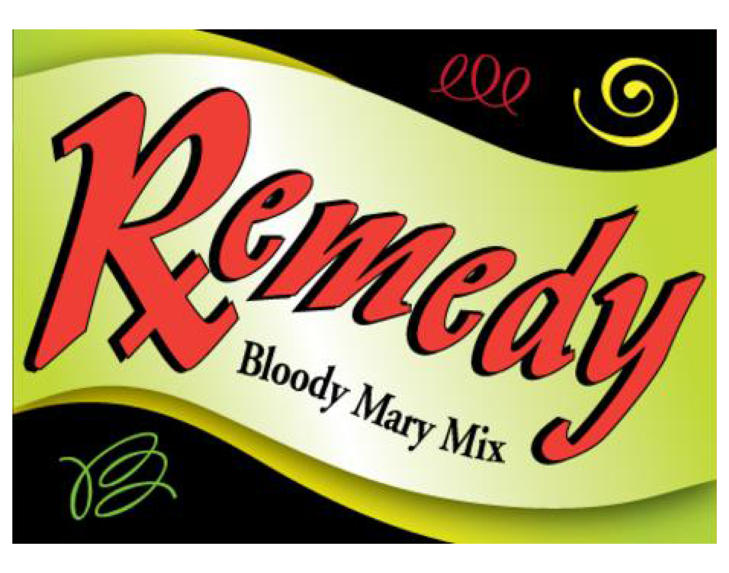 Remedy Bloody Mary Mix logo. Links to Remedy Bloody Mary Mix website.
